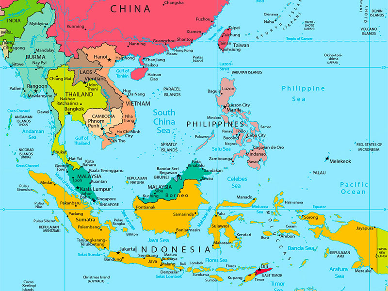 South East Asian Civilization Map - Dr Steven A Martin - Courses and Teaching - Asian Studies