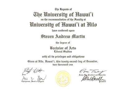 International Education Online - University Degrees - Steven Andrew Martin PhD
