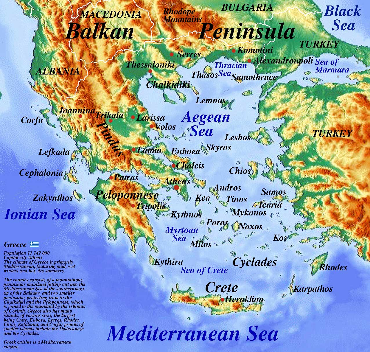 Map of Greece and Aegean Sea | Geography of Greece | Professor Steven A Martin PhD Educational Website | Rise of the Polis
