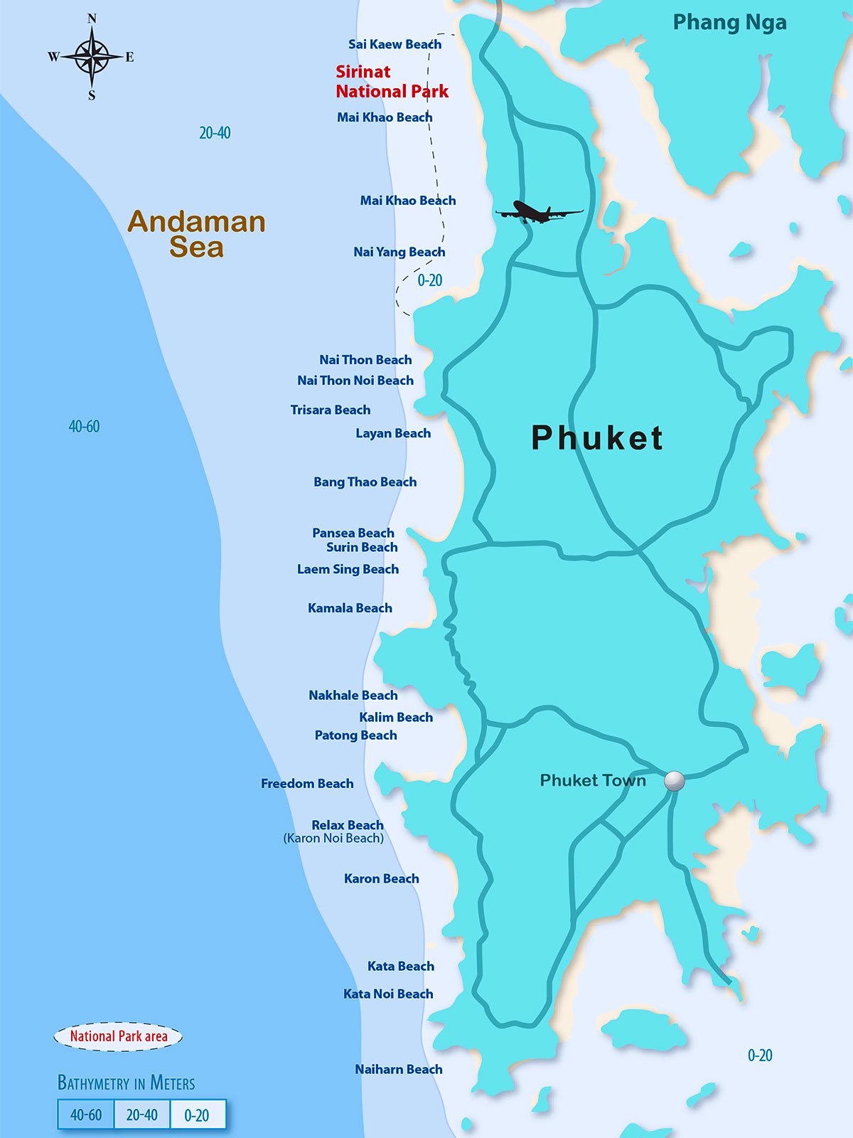 Bathymetry | Surf Map Phuket | Surf Resource Sustainability Index | Dr Steven Andrew Martin | Surf Thailand | Tourism Research