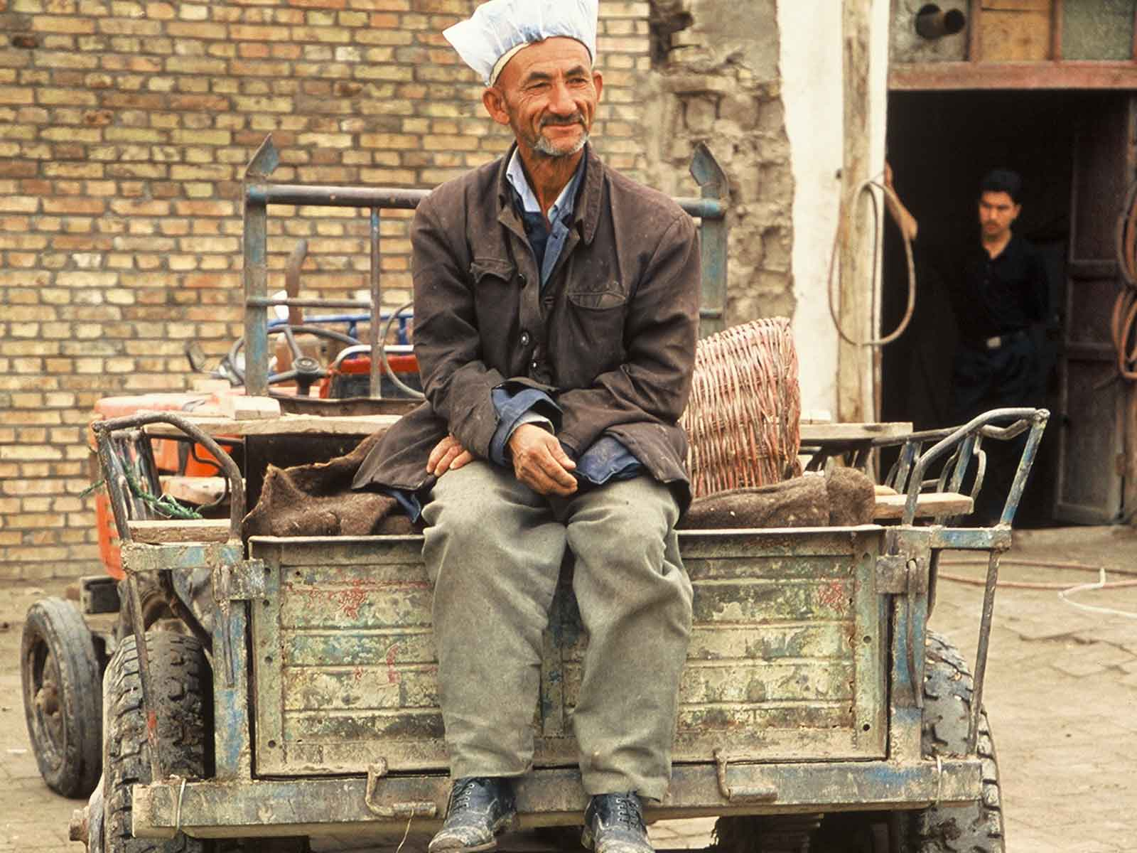 Watermelon seller - Kashgar Sunday Market - Xinjiang China - Silk Road Photo Journal - Steven Andrew Martin - Research