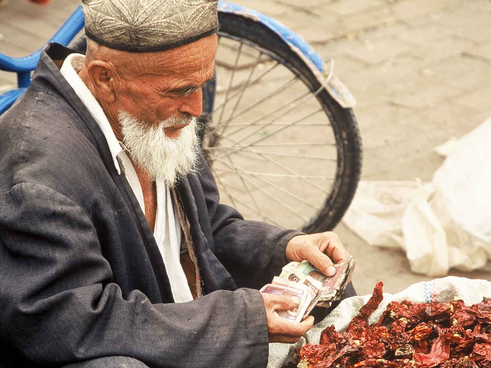 Chili Peppers - Kashgar Bazaar - China Silk Road Photo Journal - Dr Steven Andrew Martin
