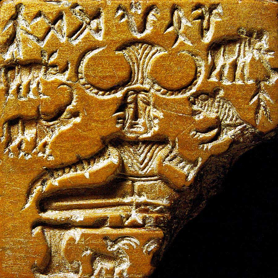 The Pashupati Seal | Meditating Yogi with horned headdress surrounded by animals | Indus Valley Civilization