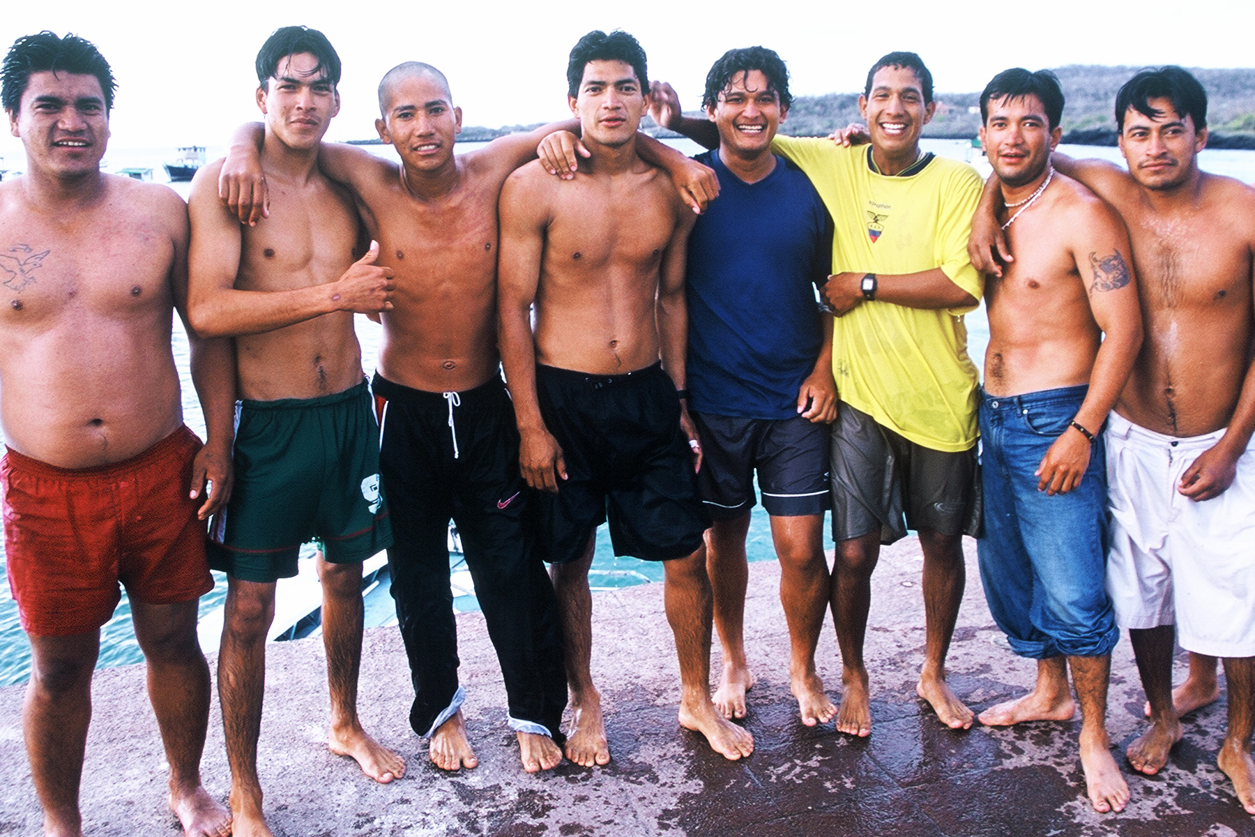 Puerto Baquerizo Moreno | Swimming at the pier | San Cristobal Galapagos | Steven Andrew Martin | Photo Journal