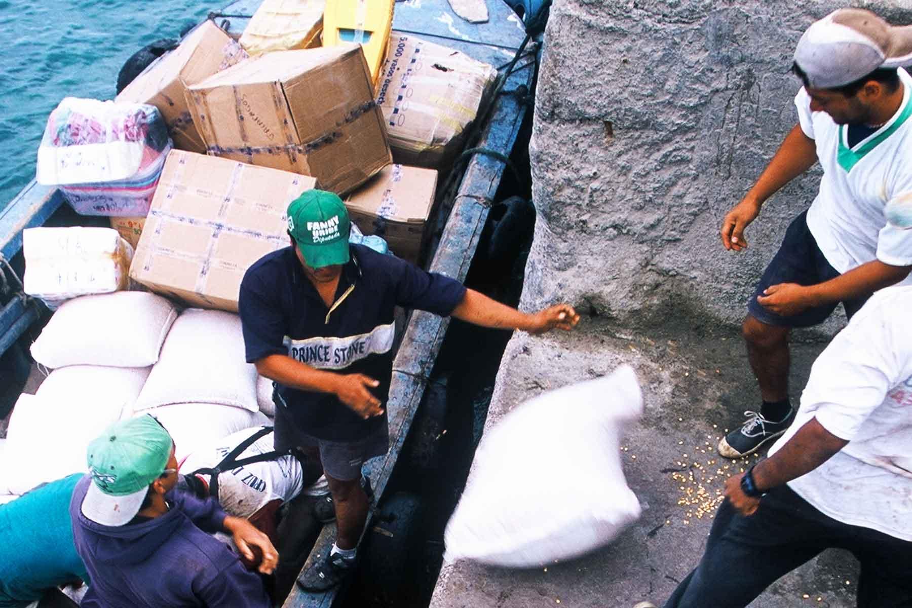 Working at San Cristobal Pier | Dr. Steven A. Martin | Galapagos Photo Journal | Environmental Studies | International Education Online