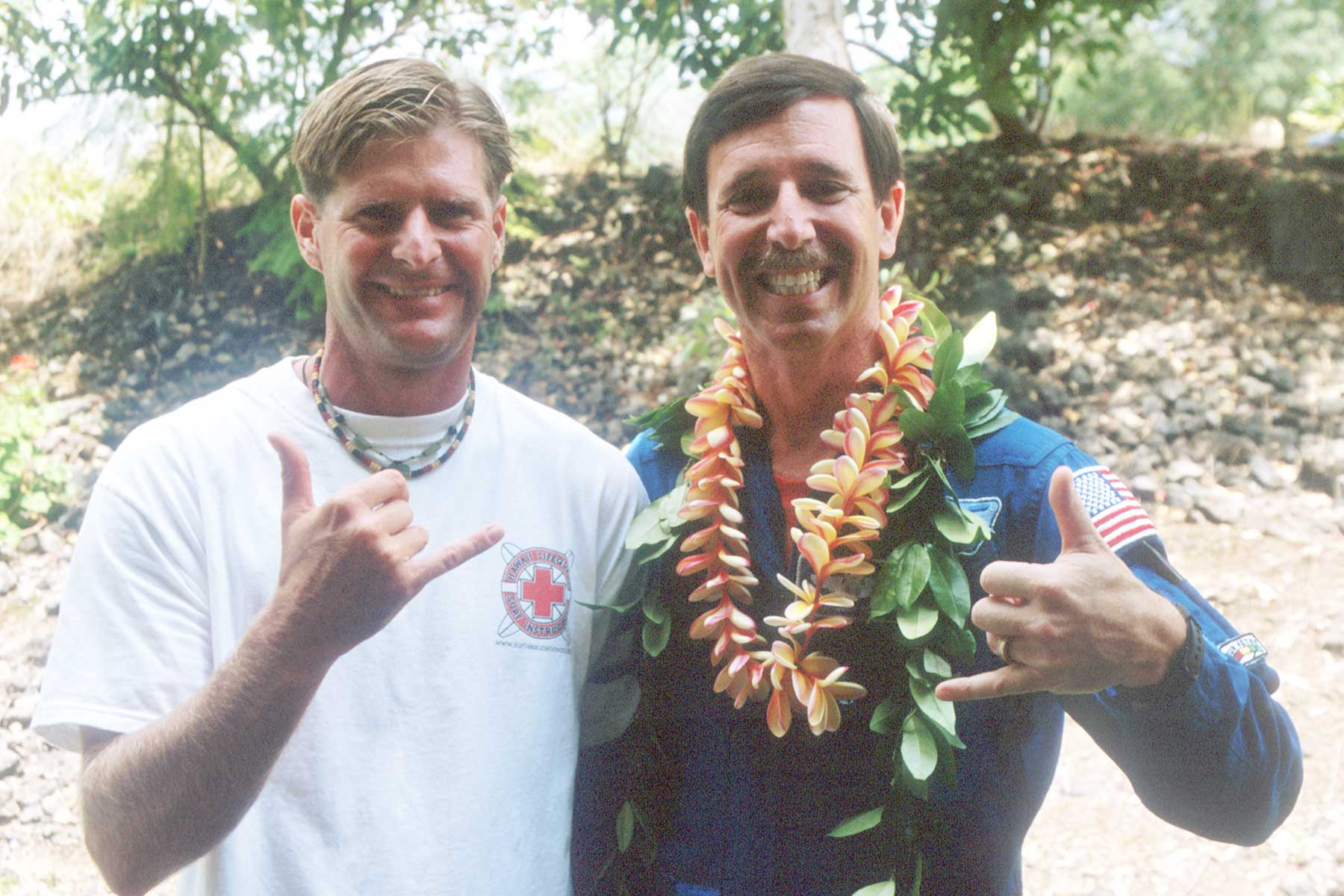 Scott Horowitz and Steven A. Martin - NASA Astronauts - Hawaii Appearance - Steven Andrew Martin - Lifeguard  Surfing Lessons