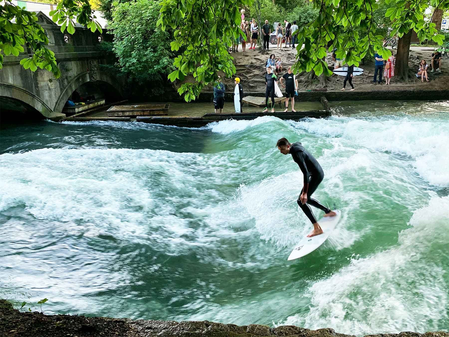 German surfer | Eisbach River Wave | Surf Tourism Research | Dr Steven Andrew Martin | Munich Germany