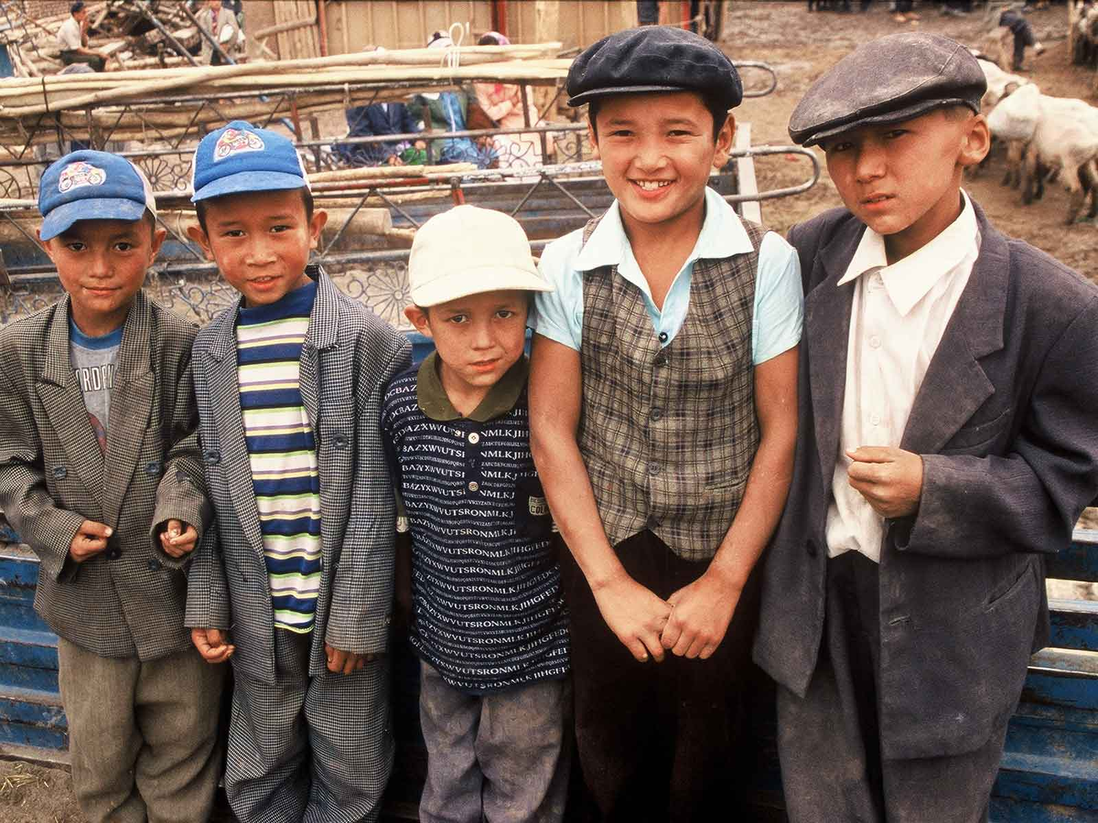 Uyghur youth - Kashgar Sunday Bazaar - China Silk Road Photo Journal - Steven Andrew Martin PhD