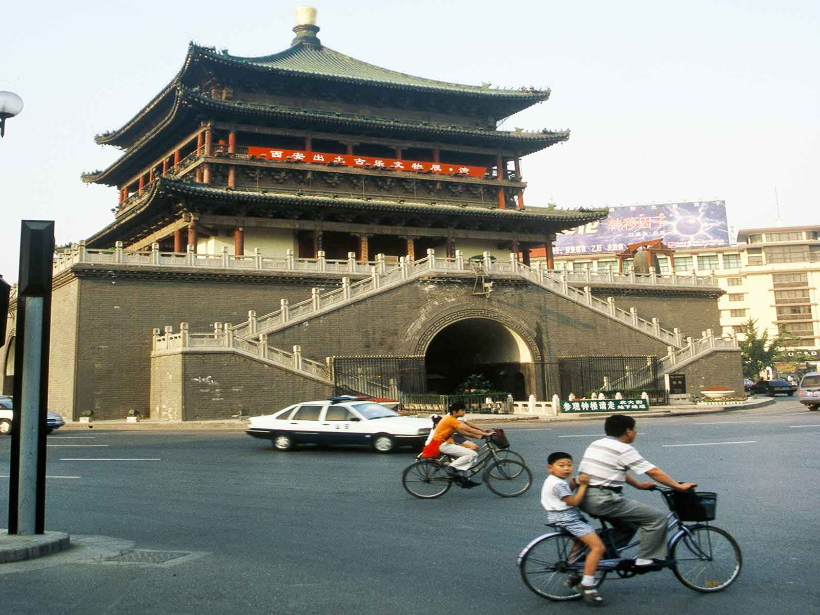 Bell Tower - Xian China - Silk Road Photo Journal - Dr Steven Andrew Martin - Research