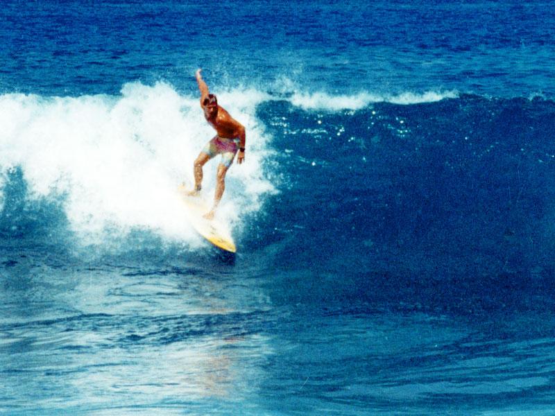 Steven A Martin PhD - Surfing Magic Sands Point, Kona, Hawaii