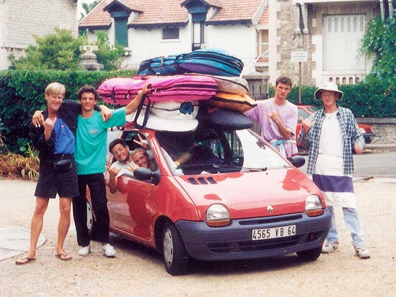 Steven Andrew Martin | Viareggio Italian surf club | The Hurricanes | Surfing Grande Plage, Biarritz, France