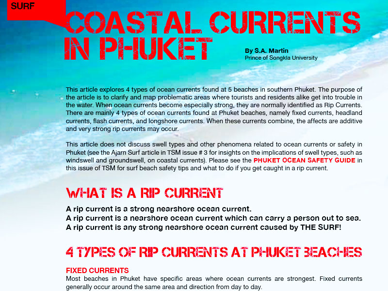 Coastal Currents Phuket - Dr Steven Andrew Martin - Lifeguarding and Water Safety