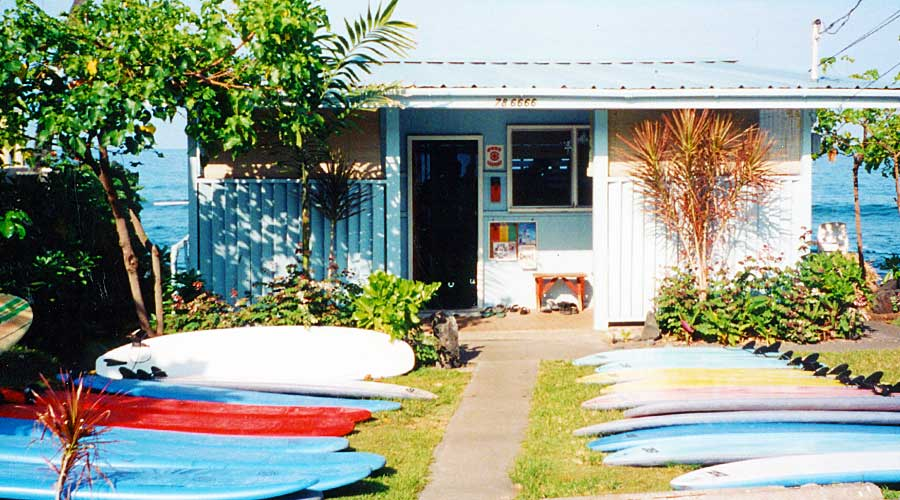 Hawaii Lifeguard Surf Instructors (HLSI) Beach House, Kailua-Kona - Steven Andrew Martin - Kahaluu Beach Park Hawaii