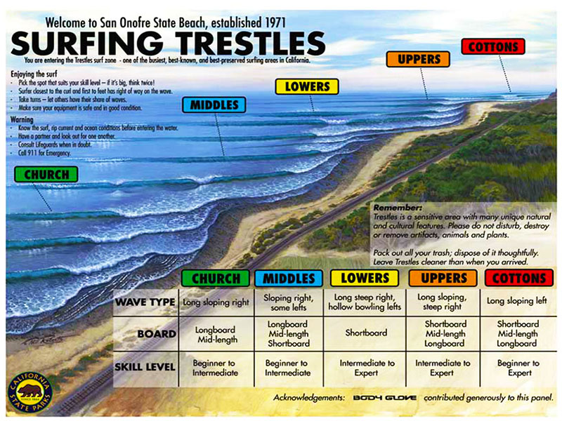 Surfing Trestles - California State Park Lifeguards - Steven Andrew Martin