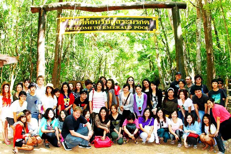 Dr Steven Andrew Martin - Thai Geography class photo - Emerald Pool (Sra Morakot), Krabi, Thailand