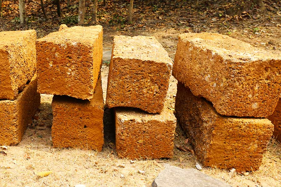 Laterite blocks Cambodia - Dr Steven Andrew Martin - Historical Geography Research