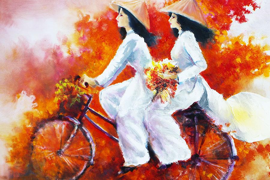 Water color painting - Mekong Delta Art, Vietnam - Steven Andrew Martin