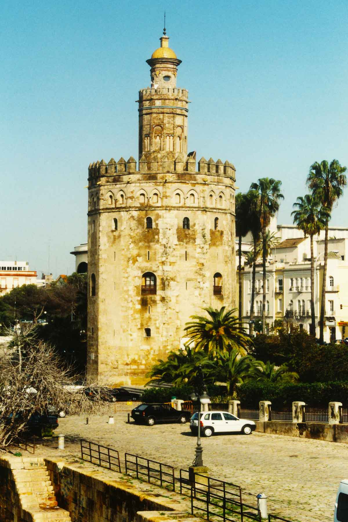 Torre del Oro - Tower of Gold - Seville Spain Photo Journal - Steven Andrew Martin 1998