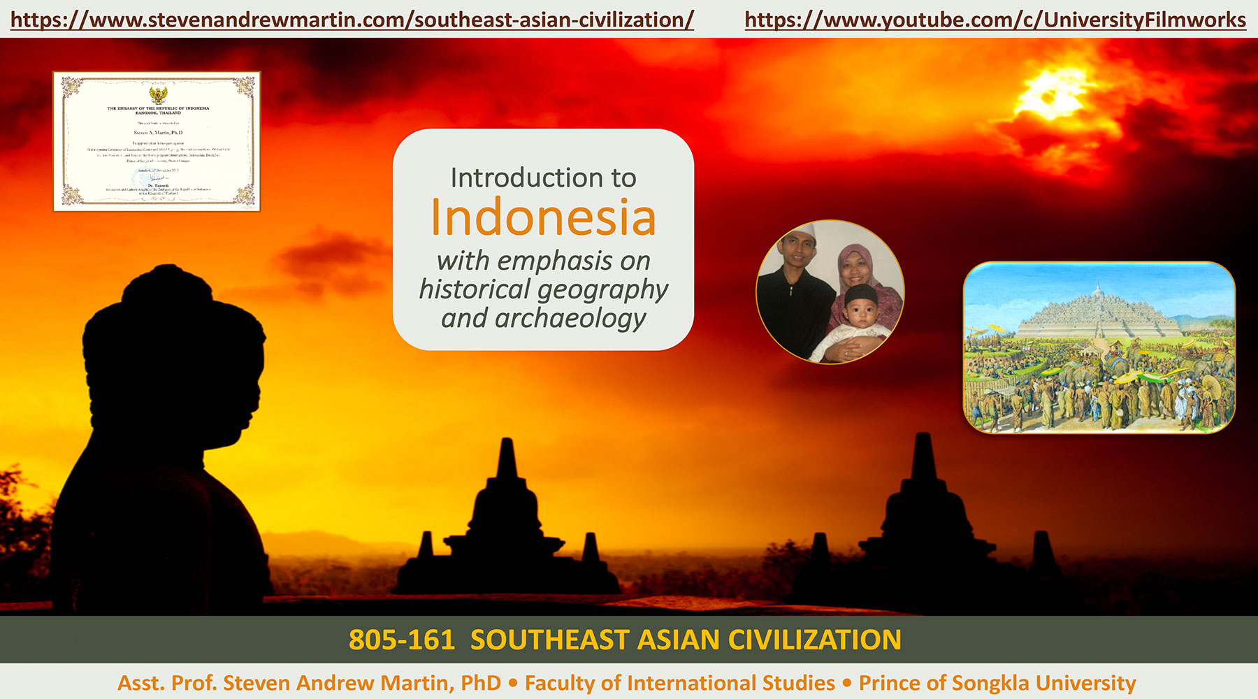 Professor Dr Steven Andrew Martin | Southeast Asian Civilization PowerPoint | Prince of Songkla University | Faculty of International Studies