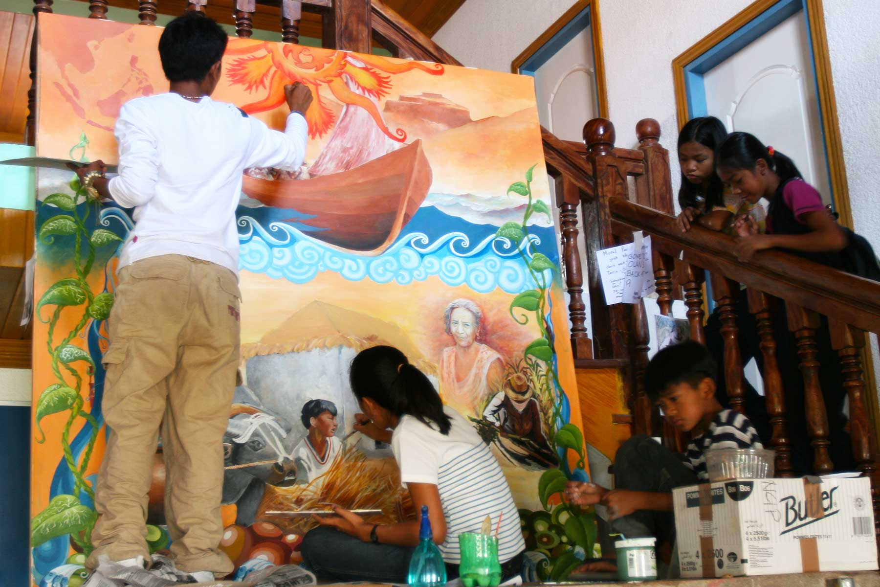 Batanes Islands Photo Journal - IIvatan Youth - Cultural Painting - Batanes Philippines - Austronesian Story - Steven Andrew Martin