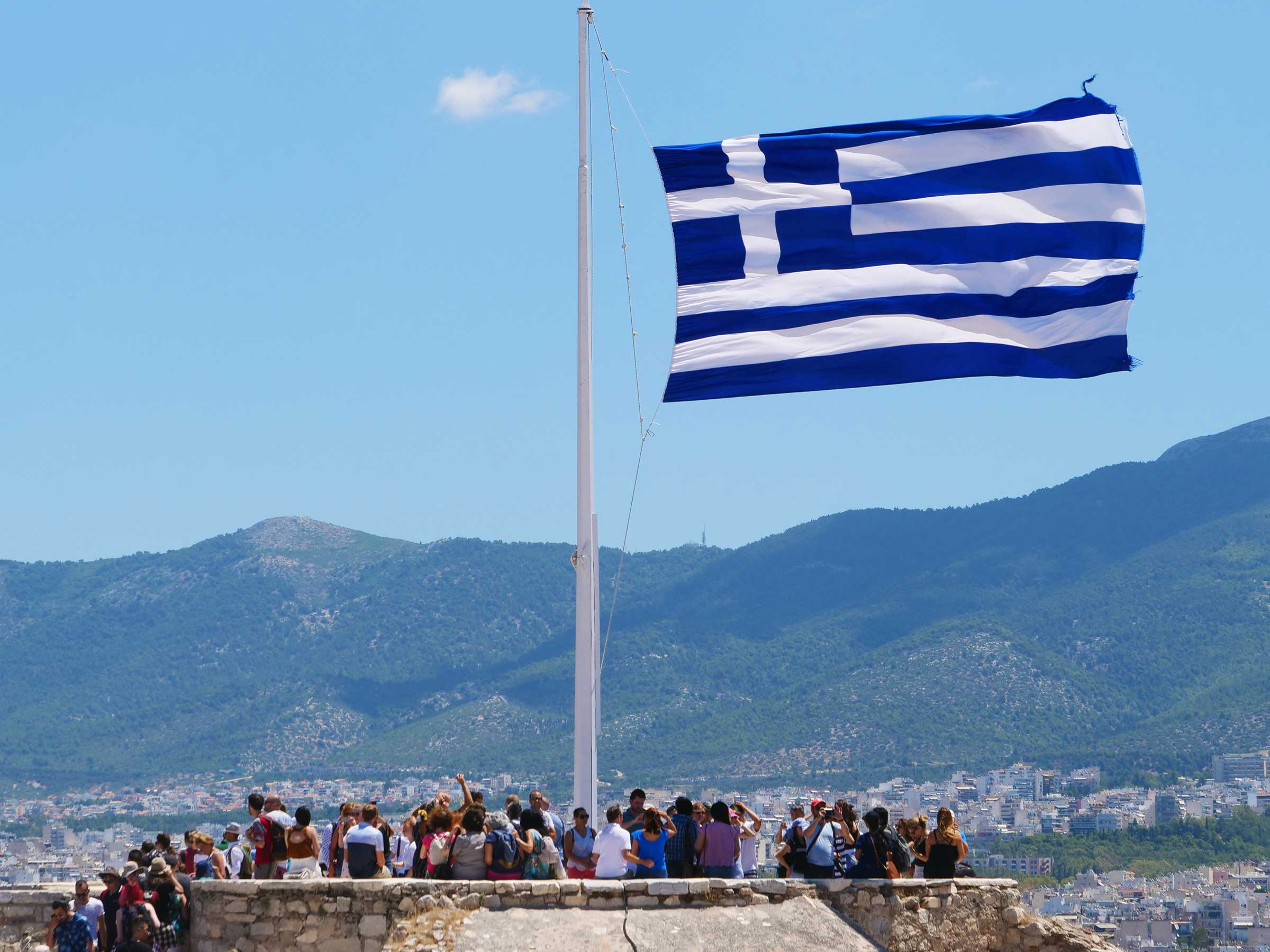 Greek Flag at the Acropolis, Athens | Photo Steven Andrew Martin | Archaeology