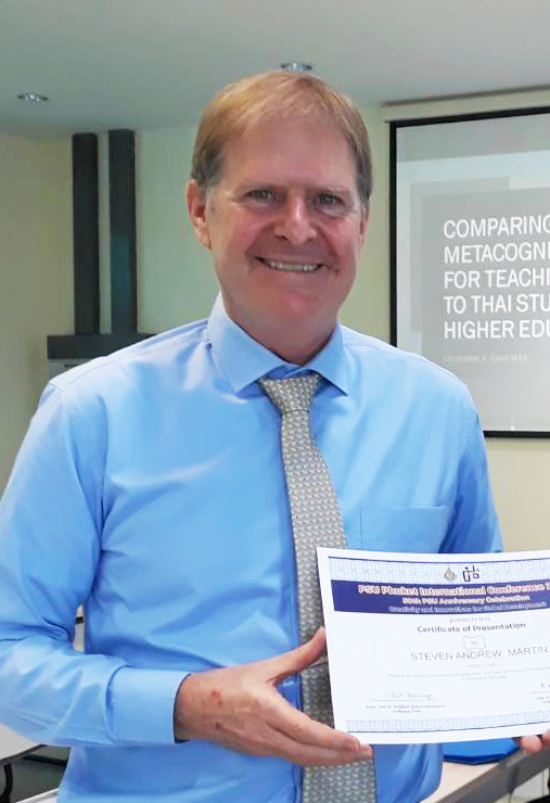 Congratulations on Promotion to Assistant Professor of Asian Studies to Dr Steven Andrew Martin | Photo - Proceedings of the 2018 PSU Phuket International Conference 50th Anniversary Celebration