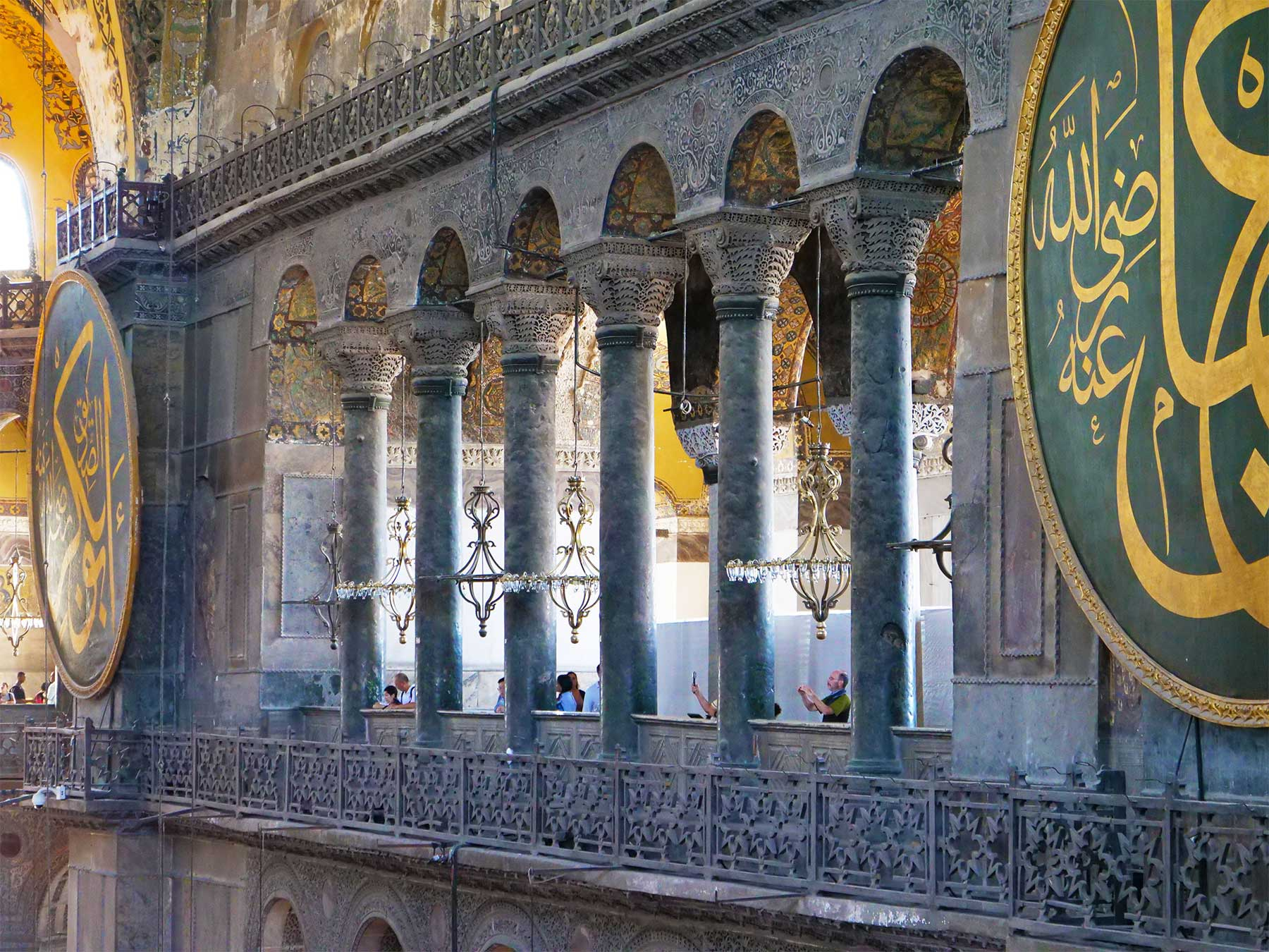 Hagia Sophia | Ayasofya Museum Balcony | Istanbul Turkey | 2019 Photo Dr Steven Andrew Martin