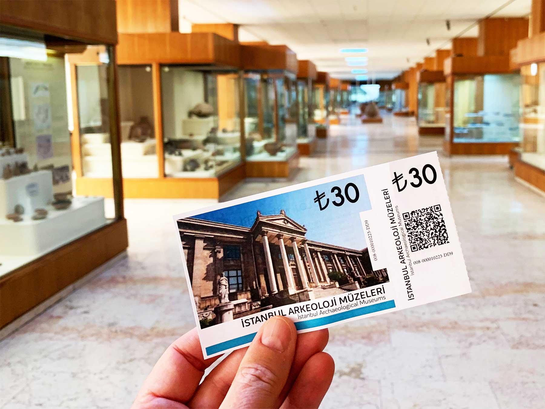 Istanbul Arkeoloji Muzeleri ticket | Istanbul Archaeological Museums ticket | Professor Steven Andrew Martin | Turkey research 2019