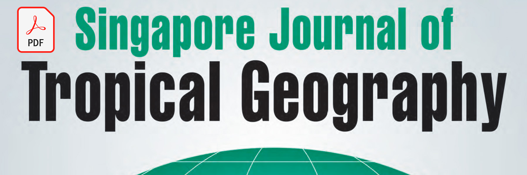 Dr Steven A Martin | Thai Geography Literature Review and Research | 2020 Singapore Journal of Tropical Geography | Systematic Review Example