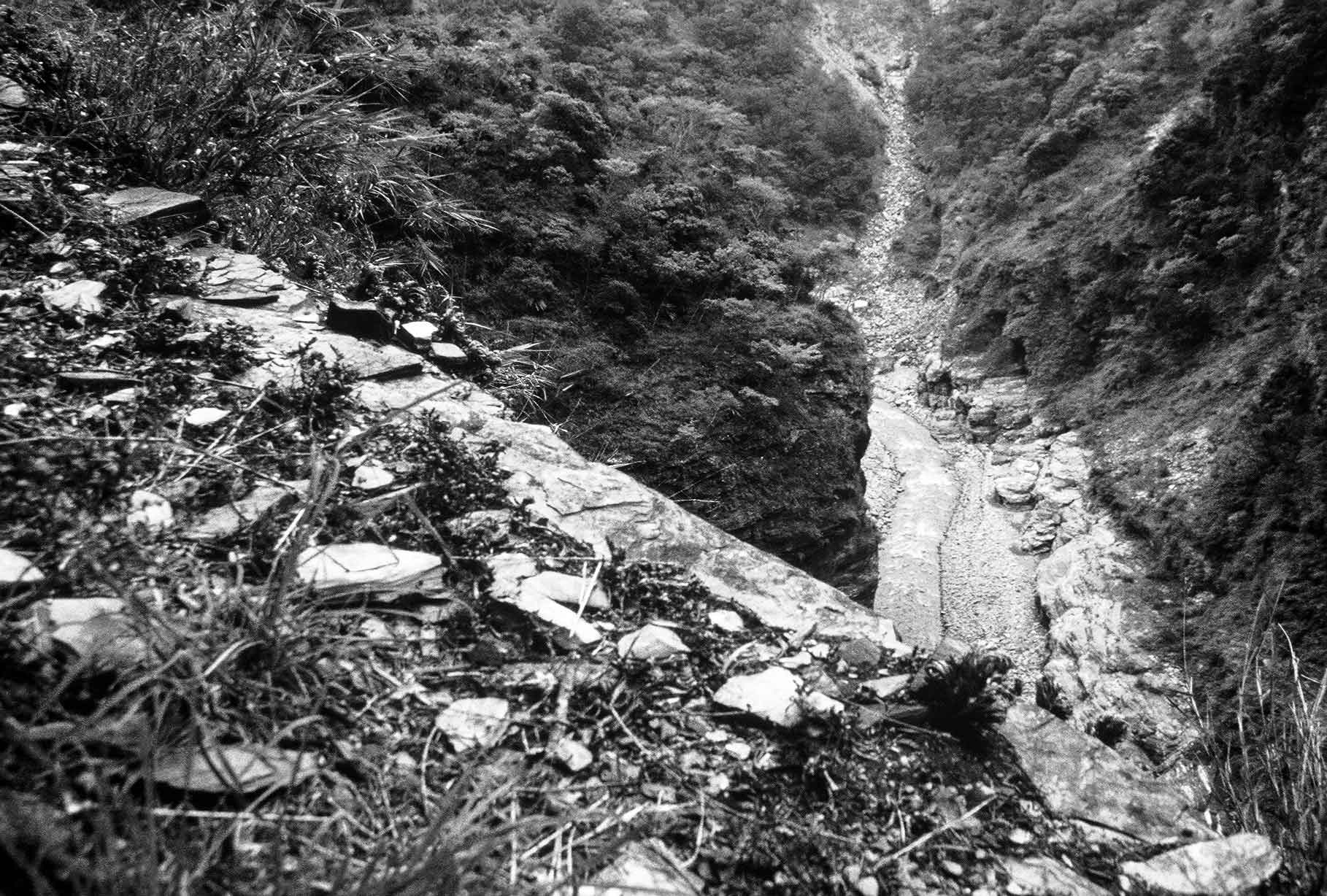 Figure 4: Remains of the Japanese police station cordon trail above the Lu Ye River, Laipunuk | Taiwan Bunun Research | Dr Steven A Martin | SAGE Ethnography