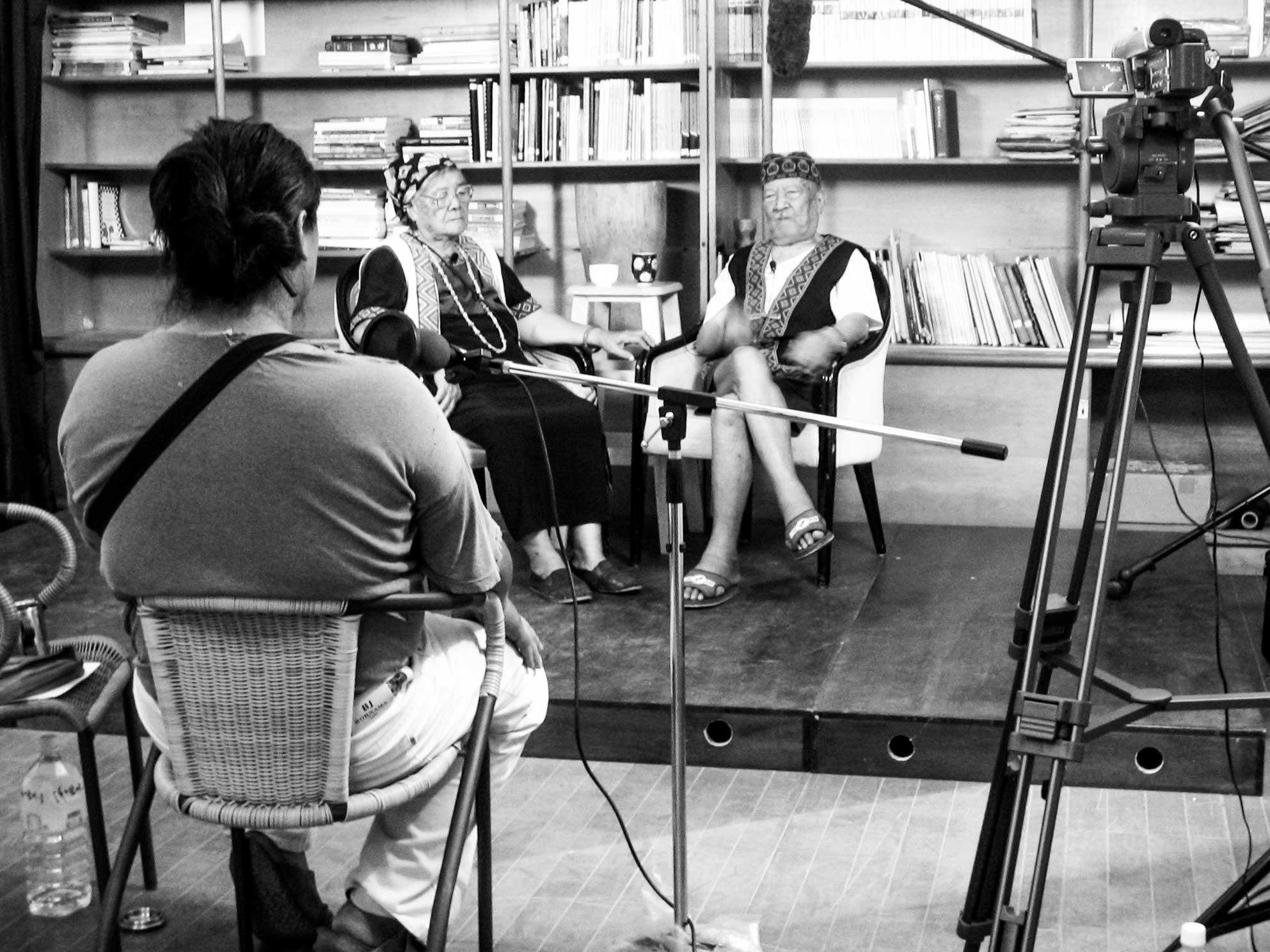 Interview setup | Nabu, Langus and Biung Istanda | Laipunuk Taiwan Bunun Hunter Research | Dr Steven A Martin | SAGE Ethnography